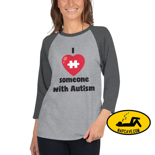 I Love Someone with Autism Heather Grey/Heather Charcoal / XS SHIRT The NapCave I Love Someone with Autism Advocate autism conversation