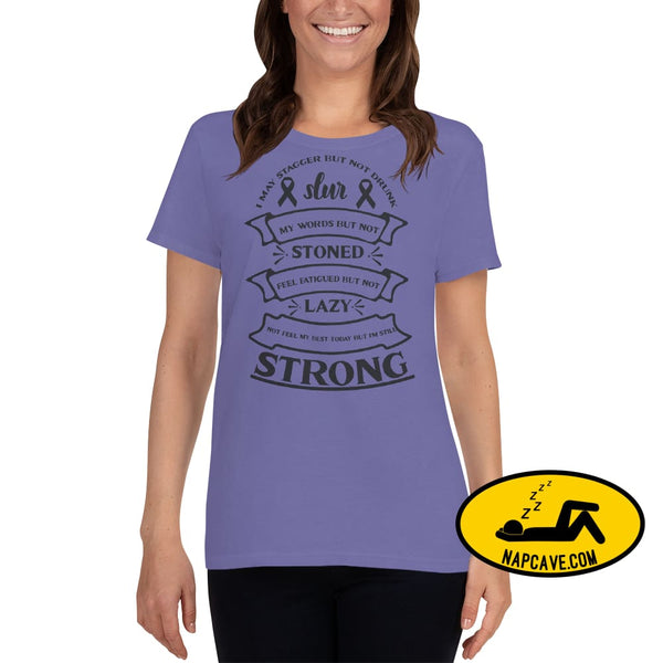 I May Slur My Speech but I am NOT Lazy but Strong t-shirt Violet / S The NapCave I May Slur My Speech but I am NOT Lazy but Strong t-shirt