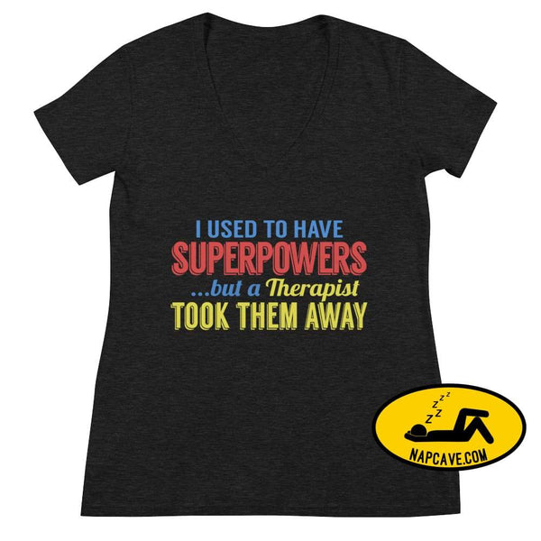 I Used to Have SuperPowers Fashion V-neck Tee The NapCave I Used to Have SuperPowers Fashion V-neck Tee gifts for her glass glass the movie