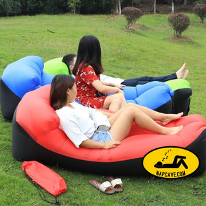 Inflatable Sun Lounger Outdoor Furniture CAMPING GEAR The NapCave Inflatable Sun Lounger Outdoor Furniture couch pouch inflatable bed nap