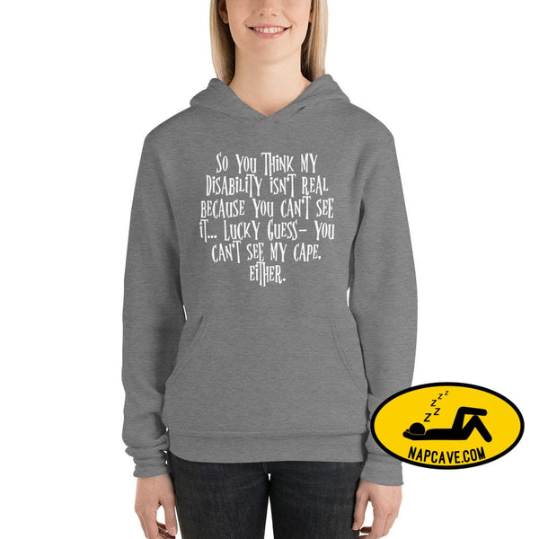Invisible illness Invisible Cape Unisex hoodie Deep Heather / S The NapCave Invisible illness Invisible Cape Unisex hoodie cataplexy
