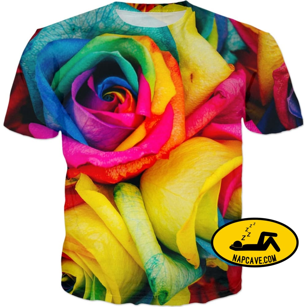 Its All Coming up Roses T-Shirts NapCave Its All Coming up Roses NapCave RageOn RageOn Connect rainbow roses