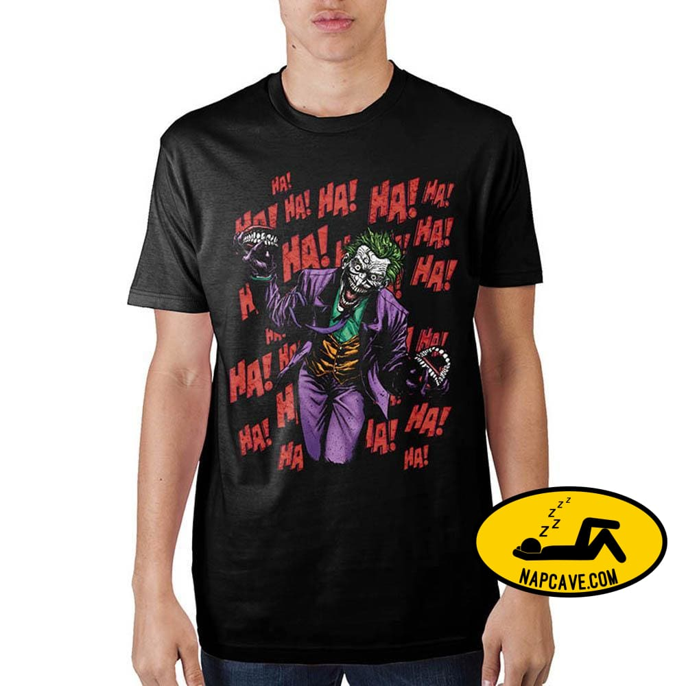 Joker Ha Ha Ha Black T-Shirt Warner Bros Joker Ha Ha Ha Black T-Shirt mxed