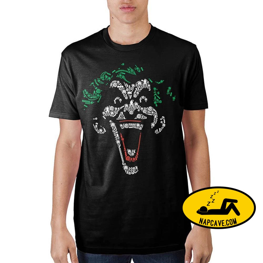 Joker Object Fill Black T-Shirt Phone ring stand Warner Bros Joker Object Fill Black T-Shirt batman joker mxed shirt the joker
