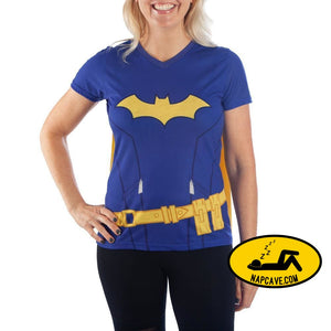 Juniors Batgirl Cape Shirt Batgirl Cosplay DC Batgirl TShirt - Batgirl Cape Tee Batgirl Shirt SHIRT with cape Graphic Tees Juniors Batgirl