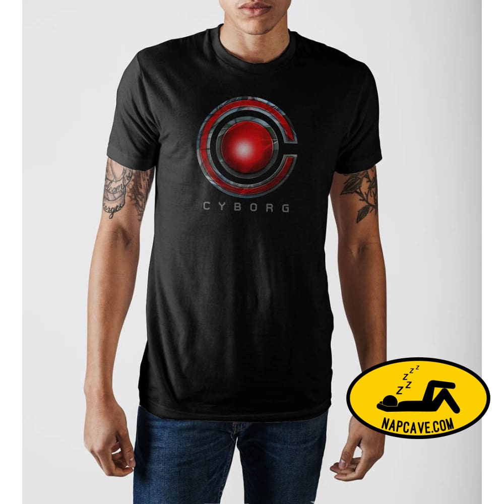 Justice League Cyborg Logo T-Shirt Justice League Justice League Cyborg Logo T-Shirt mxed