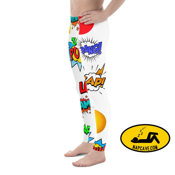 Ka Pow! Take that Sleep Deprivation! Mens Leggings The NapCave Ka Pow! Take that Sleep Deprivation! Mens Leggings bang Boom Comic words