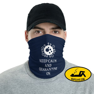 Keep calm and Quarantine on Neck Gaiter The NapCave Keep calm and Quarantine on Neck Gaiter Genius,gifts,healthcare heroes,heros,innovation