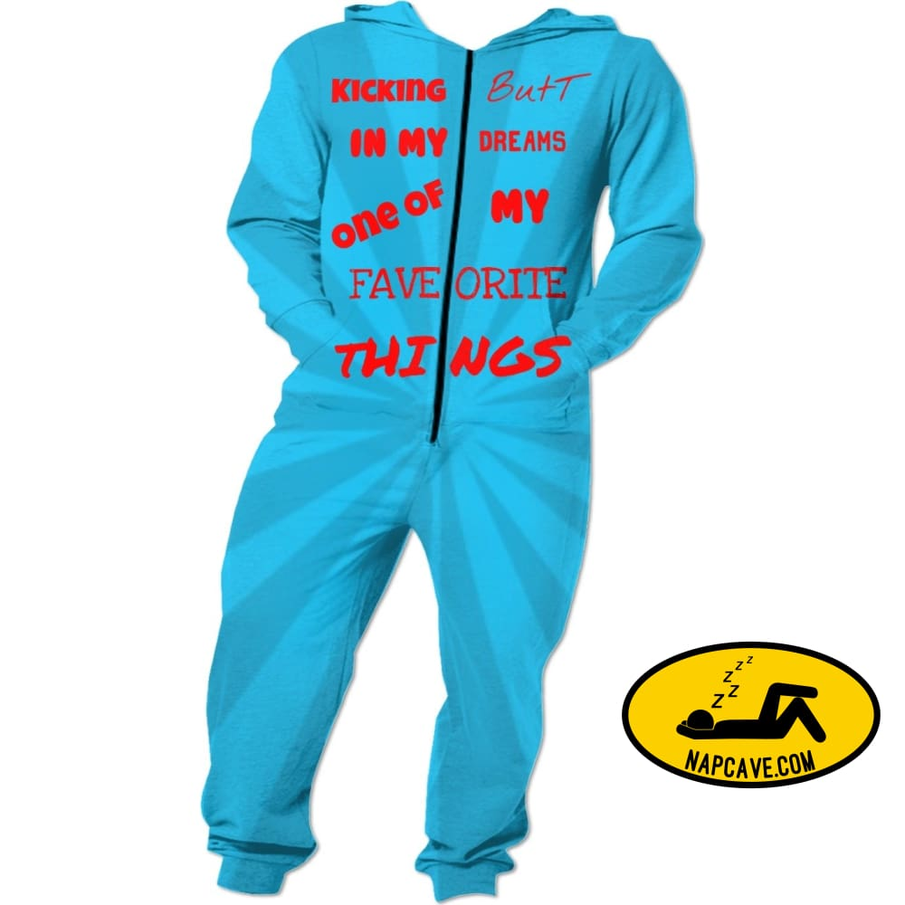 Kicking Butt In my Dreams Onesies NapCave Kicking Butt In my Dreams NapCave onesie pajamas RageOn Connect rspid1341502947416