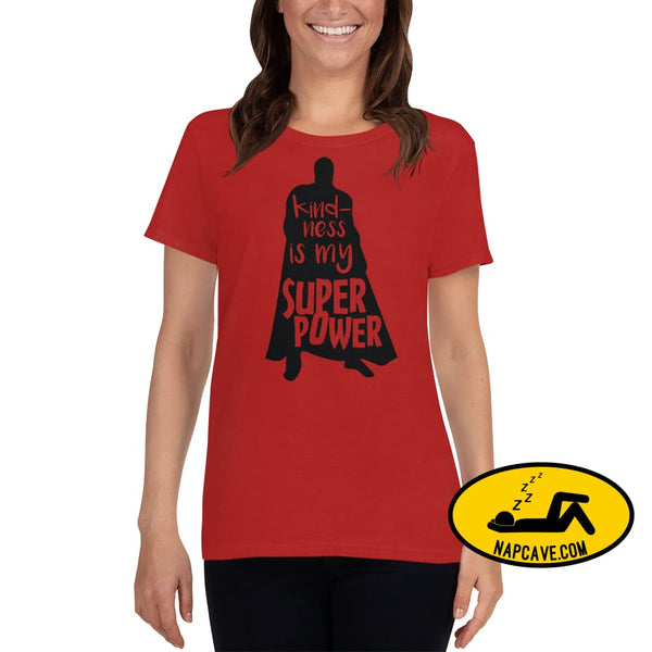 Kindness is my SuperPower Womens short sleeve t-shirt Red / S The NapCave Kindness is my SuperPower Womens short sleeve t-shirt be kind