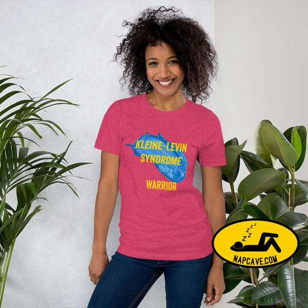 Kleine-Levin Syndrome Warrior Short-Sleeve Unisex T-Shirt Heather Raspberry / S The NapCave Kleine-Levin Syndrome Warrior Short-Sleeve
