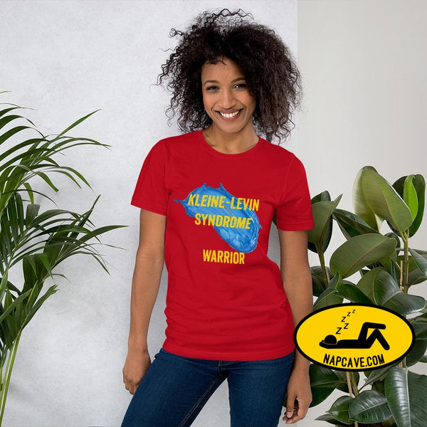 Kleine-Levin Syndrome Warrior Short-Sleeve Unisex T-Shirt Red / S The NapCave Kleine-Levin Syndrome Warrior Short-Sleeve Unisex T-Shirt Defy