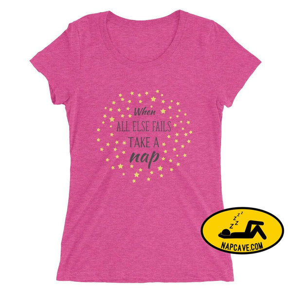 Ladies If all Else Fails Take a Nap t-shirt Berry Triblend / S Nap Cave Ladies If all Else Fails Take a Nap t-shirt chronic illness chronic