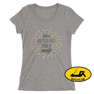 Ladies If all Else Fails Take a Nap t-shirt Grey Triblend / S Nap Cave Ladies If all Else Fails Take a Nap t-shirt chronic illness chronic