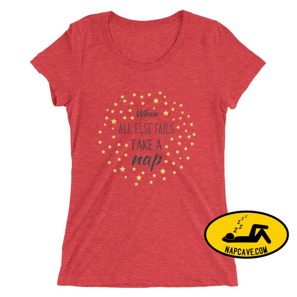 Ladies If all Else Fails Take a Nap t-shirt Red Triblend / S Nap Cave Ladies If all Else Fails Take a Nap t-shirt chronic illness chronic