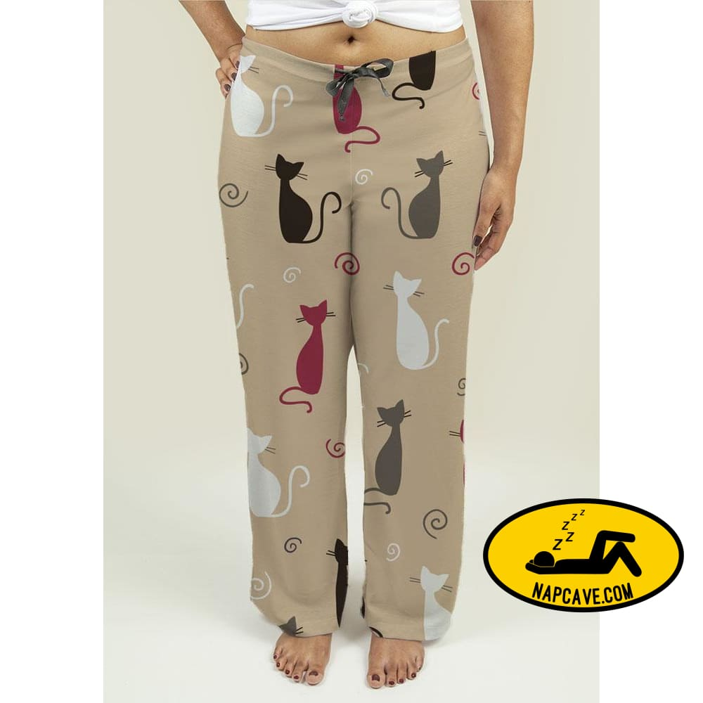 Ladies Pajama Pants with Cats Pattern Pajama Pants Gear New Ladies Pajama Pants with Cats Pattern comfortable ladies pajamas pj womens