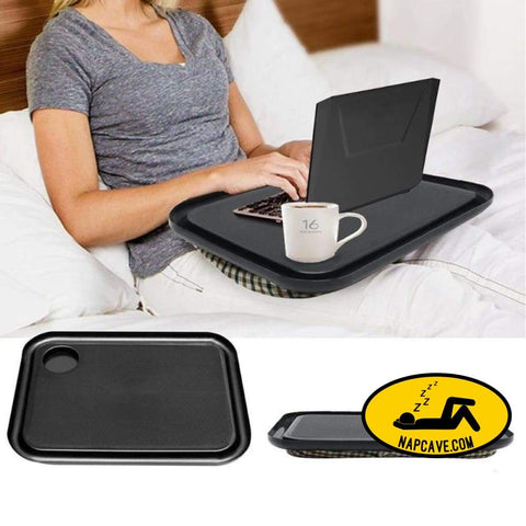 Laptop Table Multifunction Knee Lap Desk for 14 inch Computer Phone Flip Portable Outdoor Headrest Office Home Nap Pillow The NapCave Laptop