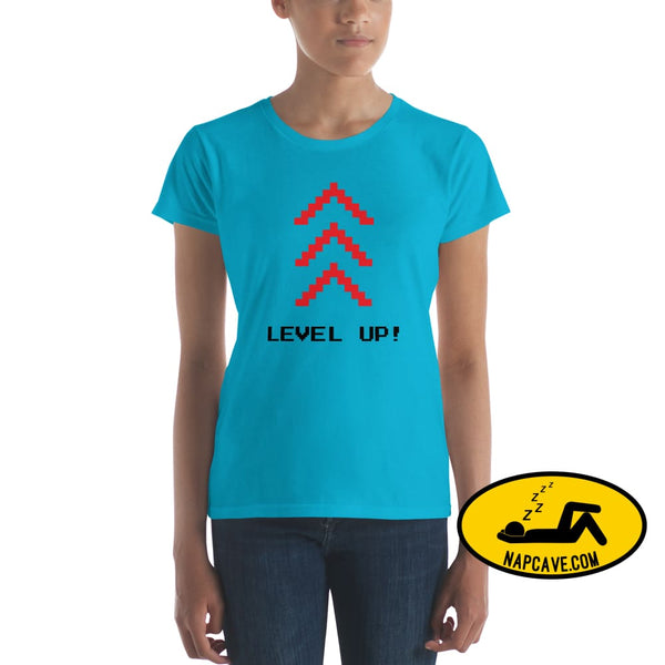 Level Up Women's short sleeve t-shirt The NapCave Level Up Women's short sleeve t-shirt gamers, Level up, shirt, short sleeves, summer