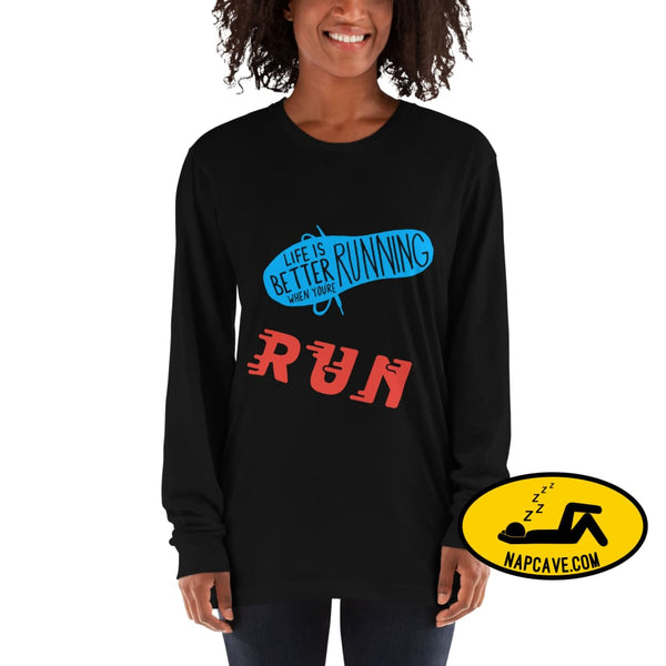 Life is better Running Long sleeve t-shirt The NapCave Life is better Running Long sleeve t-shirt Life is better Running Long sleeves