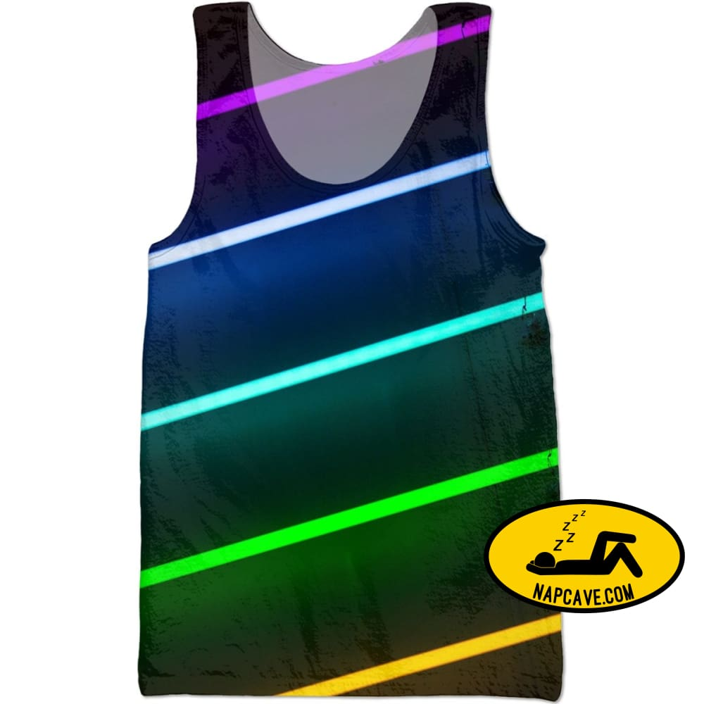 Lit Neon Nights Tank Tops NapCave Lit Neon Nights neon neon lights lit RageOn Connect rspid4000484556888 sleeveless tank top