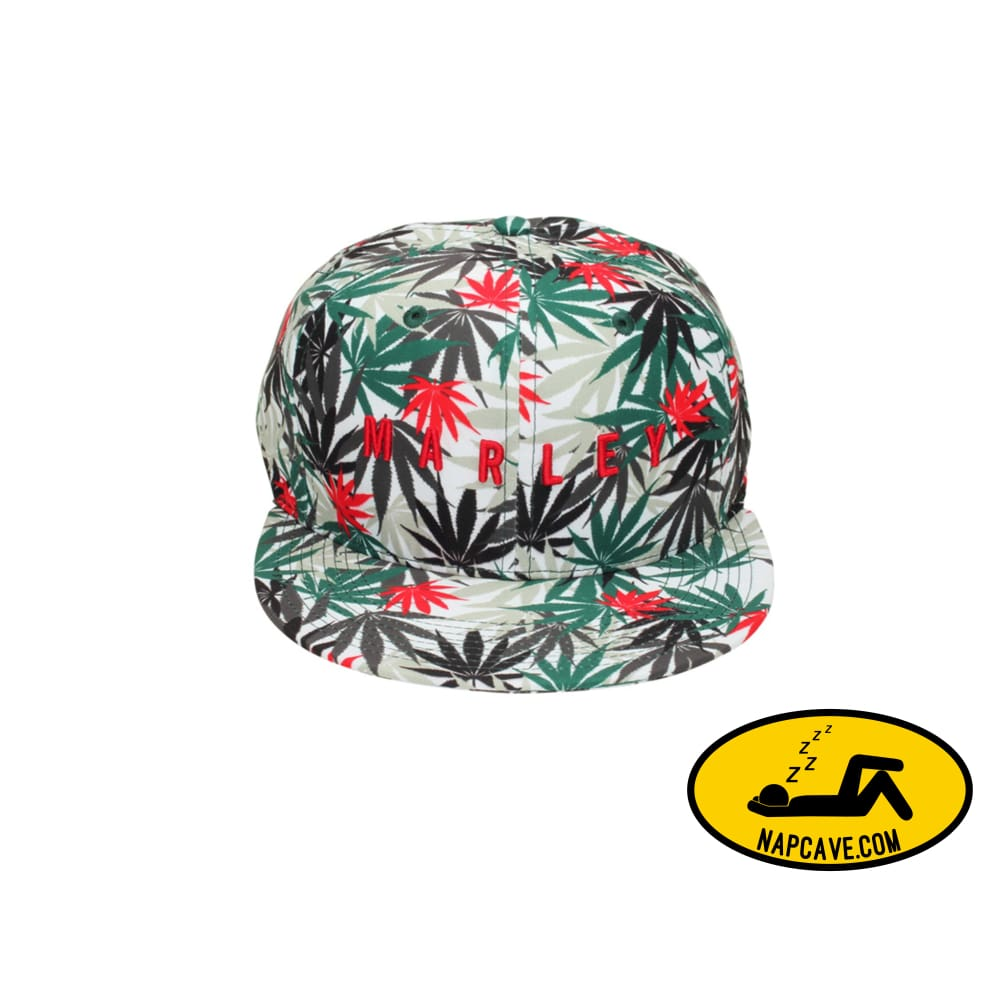 Marley Apparel Leaf Print Hat The NapCave Marley Apparel Leaf Print Hat mxed