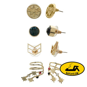 Marvel Accessories Captain Marvel Ear Cuffs Jewelry Stud Earrings - 4-Pack Marvel Comics Marvel Accessories Captain Marvel Ear Cuffs Jewelry