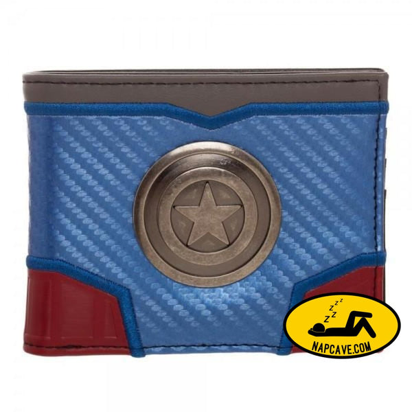 Marvel Captain America Carbon Fiber Bi-Fold Wallet Marvel Comics Marvel Captain America Carbon Fiber Bi-Fold Wallet mxed