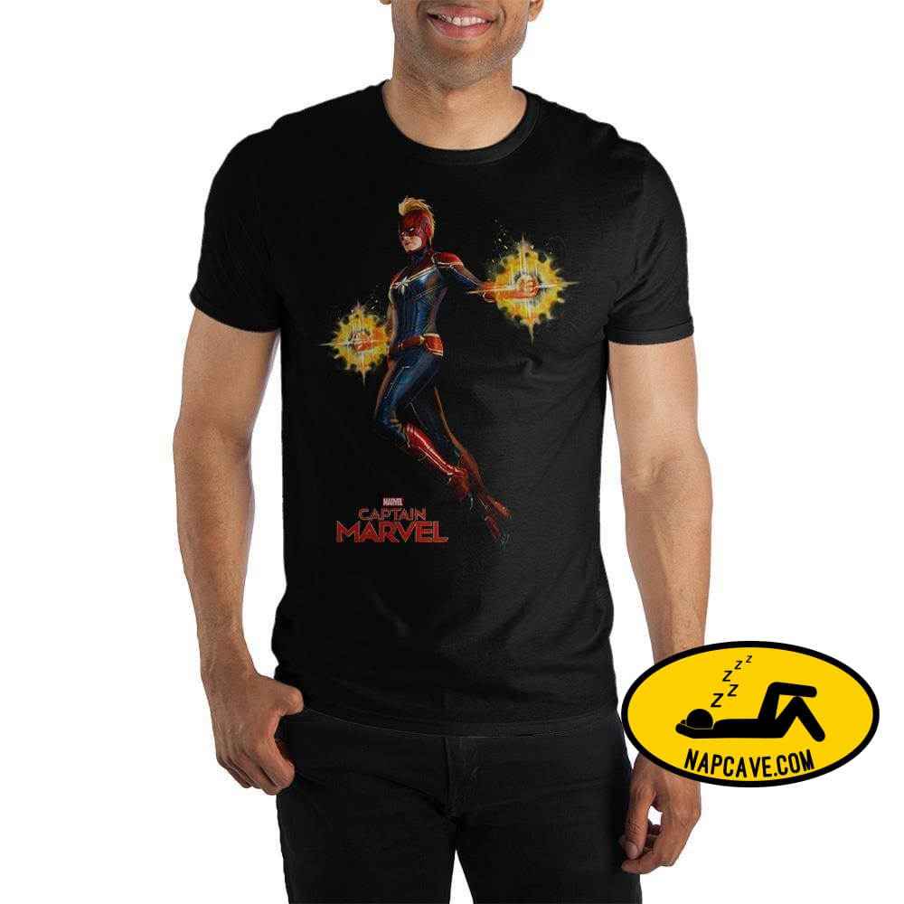 Marvel Clothing Captain Marvel Full Color Graphic Short-Sleeve T-Shirt Shirt Marvel Comics Marvel Clothing Captain Marvel Full Color Graphic