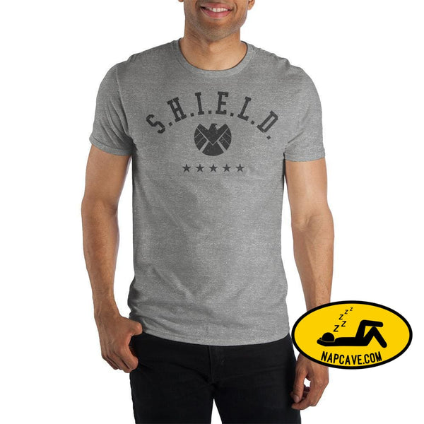 Marvel Clothing Captain Marvel S.H.I.E.L.D Graphic Short-Sleeve T-Shirt Marvel Comics Marvel Clothing Captain Marvel S.H.I.E.L.D Graphic