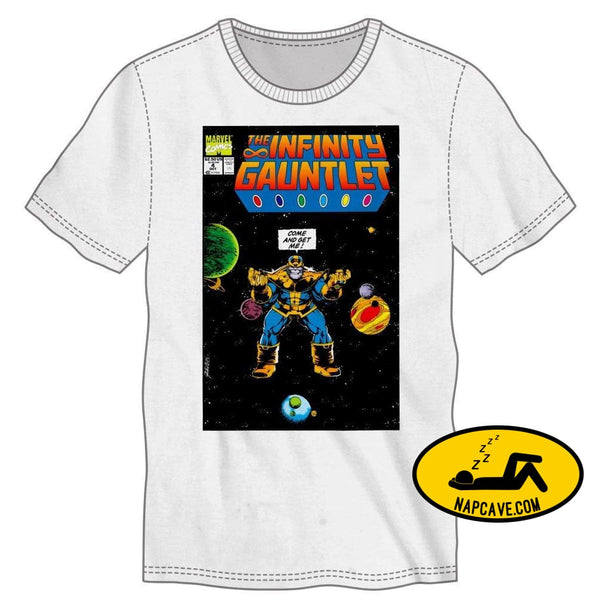 Marvel Comics Thanos The Infinity Gauntlet Mens White T-Shirt Tee Shirt Marvel Comics Marvel Comics Thanos The Infinity Gauntlet Mens White