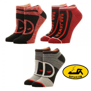 Marvel Deadpool Ankle Socks 3 Pack Marvel Comics Marvel Deadpool Ankle Socks 3 Pack mxed