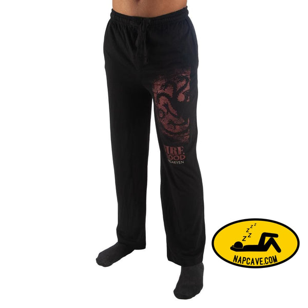 Mens Game of Thrones Pants House Targaryen Game of Thrones Sleep Pants The NapCave Mens Game of Thrones Pants House Targaryen Game of