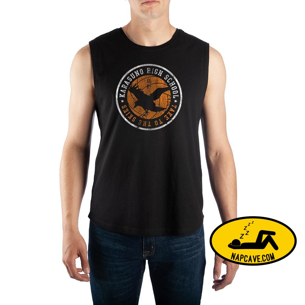 Mens Haikyu Anime Sleeveless Shirt Karasuno High School Shirt Crunchyroll Mens Haikyu Anime Sleeveless Shirt Karasuno High School Shirt mxed