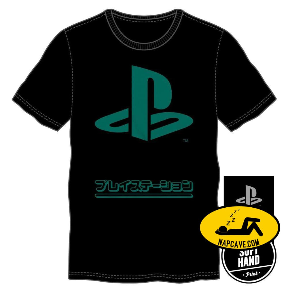 Mens Playstation Specialty Soft Hand Print Shirt The NapCave Mens Playstation Specialty Soft Hand Print Shirt mxed