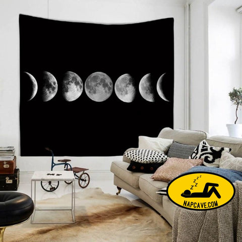 Moon Tapestry Wall Hanging Sandy Picnic Throw Blanket BLANKET The NapCave Moon Tapestry Wall Hanging Sandy Picnic Throw Blanket bedding