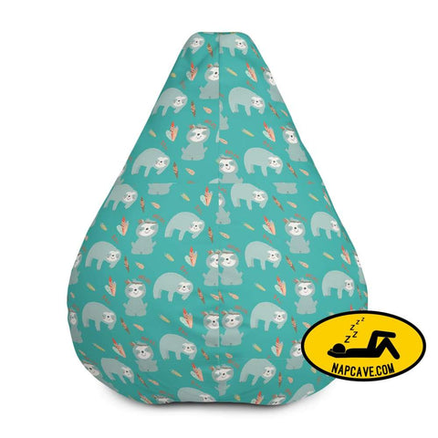 My Sloth Tribe All-Over Print Bean Bag Chair w/ filling Bean Bag The NapCave My Sloth Tribe All-Over Print Bean Bag Chair w/ filling bean