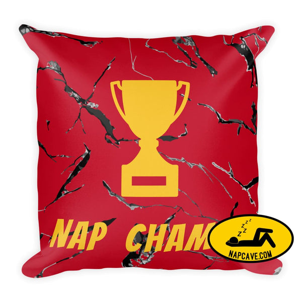 Nap Champ! Premium Pillow 18×18 The NapCave Nap Champ! Premium Pillow competitive napping gift nap Nap Champ! nap pillow
