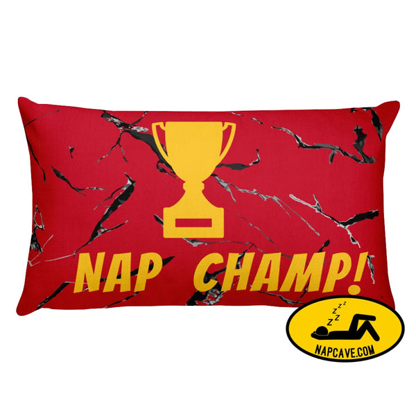 Nap Champ! Premium Pillow 20×12 The NapCave Nap Champ! Premium Pillow competitive napping gift nap Nap Champ! nap pillow