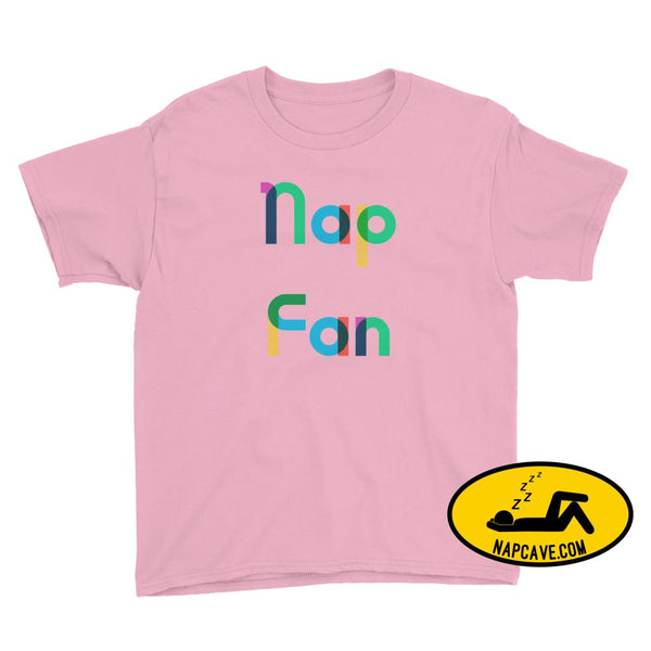 Nap Fan Rainbow Font Youth T-Shirt CharityPink / XS Kid Tee shirt The NapCave Nap Fan Rainbow Font Youth T-Shirt childrens Gift Gift for