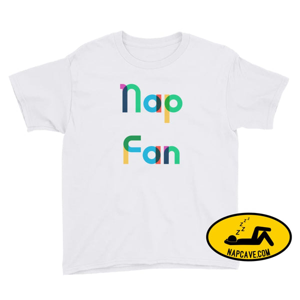 Nap Fan Rainbow Font Youth T-Shirt White / XS Kid Tee shirt The NapCave Nap Fan Rainbow Font Youth T-Shirt childrens Gift Gift for Kids