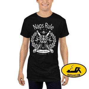 Naps Rule the Dream King Long Body Urban Tee Black / S shirt The NapCave Naps Rule the Dream King Long Body Urban Tee chronic illness crown