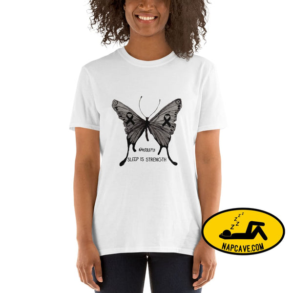 Narcolepsy Awareness Butterfly Short-Sleeve Unisex T-Shirt Shirt The NapCave Narcolepsy Awareness Butterfly Short-Sleeve Unisex T-Shirt