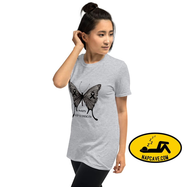 Narcolepsy Awareness Butterfly Short-Sleeve Unisex T-Shirt Sport Grey / S Shirt The NapCave Narcolepsy Awareness Butterfly Short-Sleeve