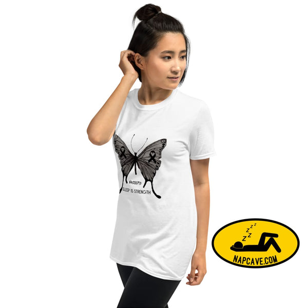 Narcolepsy Awareness Butterfly Short-Sleeve Unisex T-Shirt White / S Shirt The NapCave Narcolepsy Awareness Butterfly Short-Sleeve Unisex
