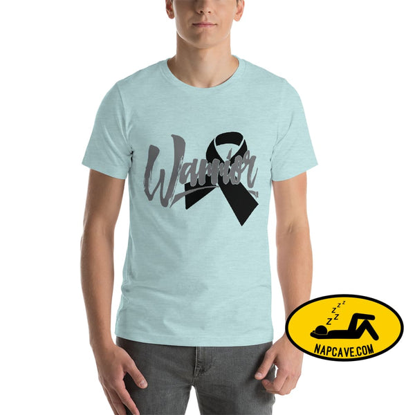 Narcolepsy Black Ribbon Warrior Unisex Premium T-Shirt | Bella + Canvas 3001 The NapCave Narcolepsy Black Ribbon Warrior Unisex Premium
