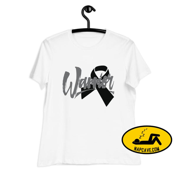 Narcolepsy Black Ribbon Warrior Womens Relaxed T-Shirt S The NapCave Narcolepsy Black Ribbon Warrior Womens Relaxed T-Shirt