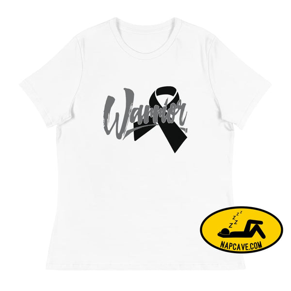 Narcolepsy Black Ribbon Warrior Womens Relaxed T-Shirt The NapCave Narcolepsy Black Ribbon Warrior Womens Relaxed T-Shirt