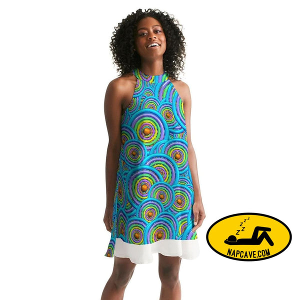 neon Womens Halter Dress cloth The NapCave neon Womens Halter Dress