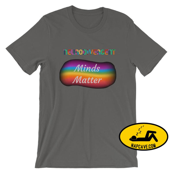 Neurodivergent Minds Matter Short-Sleeve Unisex T-Shirt The NapCave Neurodivergent Minds Matter Short-Sleeve Unisex T-Shirt Aspergers autism