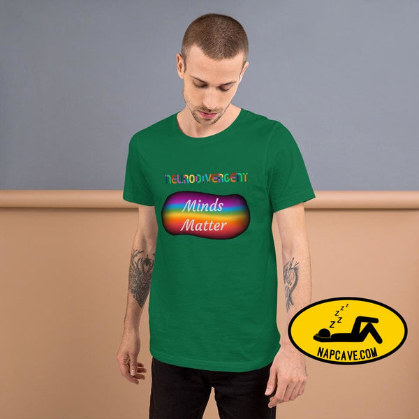 Neurodivergent Minds Matter Short-Sleeve Unisex T-Shirt Kelly / S The NapCave Neurodivergent Minds Matter Short-Sleeve Unisex T-Shirt